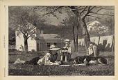 view The Nooning, from Harper's Weekly, August 16, 1873 digital asset number 1