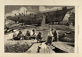 view Ship-building, Gloucester Harbor, from Harper's Weekly, October 11, 1873 digital asset number 1