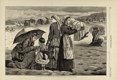 view On the Beach at Long Branch--The Children's Hour, from Harper's Weekly, August 15, 1874 digital asset number 1