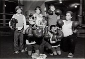 view Unidentified young boys with boxing gloves, Hartwick, Vermont digital asset number 1