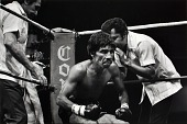 view Unidentified boxer sitting in ring digital asset number 1