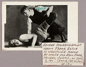 view George Hackenschmidt grappling with Frank Gotch, Chicago, Illinois digital asset number 1