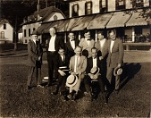 view Unidentified group of standing and sitting male figures digital asset number 1