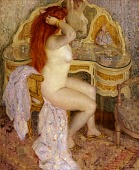 view Nude Seated at Her Dressing Table digital asset number 1
