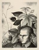 view Self-Portrait with Cotton Plant digital asset number 1