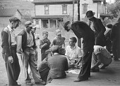 view Coal miners' card game on the porch, Chaplin, West Virginia digital asset number 1