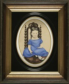 view Young Girl in Plain Blue Dress, Carved Chair digital asset number 1