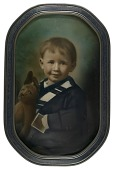 view Boy with Stuffed Rabbit digital asset number 1