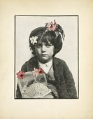 view Untitled (Girl with Flowers and Fan) digital asset number 1