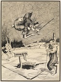 view Jumping the Hole in the Ice (illustration for Peter Rabbit) digital asset number 1
