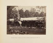 view Reviewing Stand in Front of the Executive Mansion, Washington, D.C., May, 1865 digital asset number 1