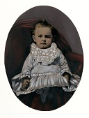view [Infant on Red Chair] digital asset number 1