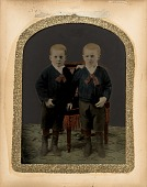 view [Two Boys in Blue Jackets] digital asset number 1