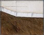 view Running Fence (Project for Sonoma County and Marin County, California) Pacific Ocean, Estero Americano, City of Valley Ford, State Highway 1 and Freeway 101 digital asset number 1