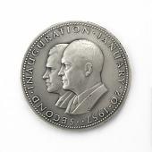 view Dwight David Eisenhower and Richard Milhous Nixon Inaugural Medal digital asset number 1