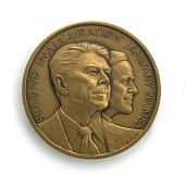 view Ronald Reagan & George Bush Inaugural Medal digital asset number 1