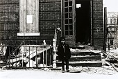 view Untitled (Boy in front of condemned building, East New York) digital asset number 1