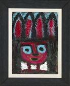 view Untitled (Figure with Blue Eyes and Headdress) digital asset number 1