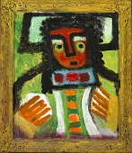 view Untitled (Figure with Green Eyes and Leaf) digital asset number 1