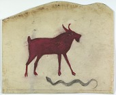 view Untitled (Red Goat with Snake) digital asset number 1