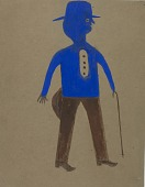 view Untitled (Man in Blue and Brown) digital asset number 1