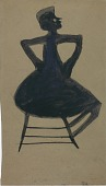 view Untitled (Seated Woman) digital asset number 1