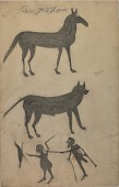 view Untitled (Mule, Dog, and Scene with Chicken) digital asset number 1