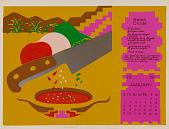 view Salsa Cruda (January), from Calendario de Comida 1976 digital asset number 1