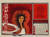 view Chicana (December), from Calendario de Comida 1976 digital asset number 1