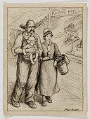 view Untitled (Country Family Walking Past Hat Shop) digital asset number 1