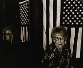 view Virginia Jensen, age ninety-four, is a former suffragette and an active democratic worker. The American flag was presented to her on her 90th birthday by Congresswoman Barbara Mikulski. digital asset number 1