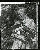 view Man with Scythe [painting] / (photographed by Peter A. Juley & Son) digital asset number 1
