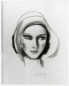 view Head of a Girl [drawing] / (photographed by Peter A. Juley & Son) digital asset number 1