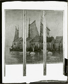 view Screen, Boats and Docks [painting] / (photographed by Peter A. Juley & Son) digital asset number 1