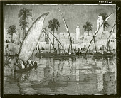 view City on the Nile [painting] / (photographed by Peter A. Juley & Son) digital asset number 1
