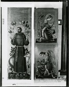 view Altarpiece for St. John's Church, Beverly Farms, Massachusetts (left and lower panels) [painting] / (photographed by Peter A. Juley & Son) digital asset number 1