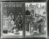 view Altarpiece for St. Martin's Episcopal Church, Providence, Rhode Island (right and left lower small panels ) [painting] / (photographed by Peter A. Juley & Son) digital asset number 1