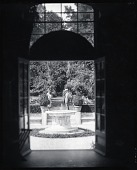 view Daniel Chester French and his daughter Margaret French Cresson in the studio garden at Chesterwood [photograph] / (photographed by A. B. Bogart) digital asset number 1
