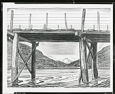 view Bridge Across Azapardo River [drawing] / (photographed by Peter A. Juley & Son) digital asset number 1