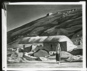 view Dan Ward's Cottage, Ireland [painting] / (photographed by Peter A. Juley & Son) digital asset number 1