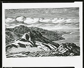 view Southwest from the Summit of Bailey [drawing] / (photographed by Peter A. Juley & Son) digital asset number 1