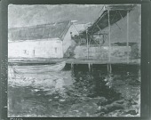 view Fish Sheds, Gloucester, Massachusetts [painting] / (photographed by Peter A. Juley & Son) digital asset number 1