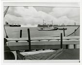 view Deck Load with Tug Boat #3? [painting] / (photographed by Peter A. Juley & Son) digital asset number 1