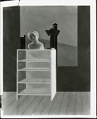 view Bookcase with Sculpture [painting] / (photographed by Peter A. Juley & Son) digital asset number 1