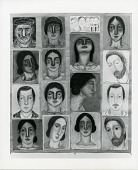 view Group of sixteen portrait drawings [art work] / (photographed by Peter A. Juley & Son) digital asset number 1