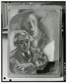 view Abraham Walkowitz and Unidentified Woman [drawing] / (photographed by Peter A. Juley & Son) digital asset number 1