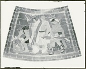 view Corn (cartoon for ceramic mosaic for Nebraska State Capitol, Vestibule ceiling) [painting] / (photographed by Peter A. Juley & Son) digital asset number 1