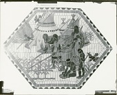 view Indian Ceiling: Agriculture (cartoon for ceramic mosaic for Nebraska State Capitol, Senate Chamber [painting] / (photographed by Peter A. Juley & Son) digital asset number 1