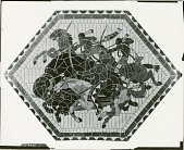 view Indian Ceiling: Hunting (cartoon for ceramic mosaic for Nebraska State Capitol, Senate Chamber) [painting] / (photographed by Peter A. Juley & Son) digital asset number 1