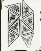 view Indian Ceiling: Eight Decorative Animal Designs (cartoon for ceramic mosaic for Nebraska State Capitol, Senate Chamber) [painting] / (photographed by Peter A. Juley & Son) digital asset number 1
